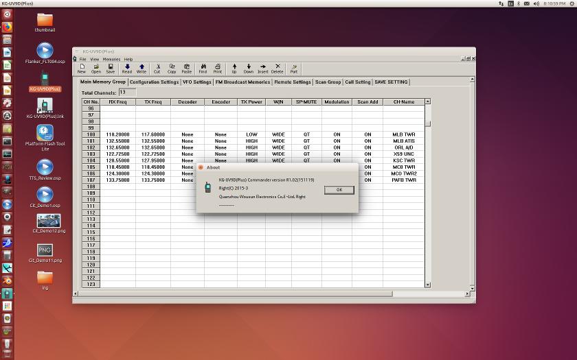 Linuxslate com Forums - Wouxun KG-UV9D(plus) Programming on